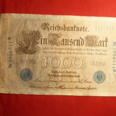 Bancnota 1000 Marci 1910 Germania, cal.F.Buna - bancnota europa