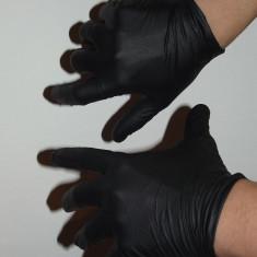 Set 100 manusi unica folosinta negre pentru tatuat