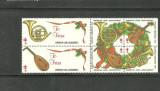 SUA 1991 - INSTRUMENTE MUZICALE, FRUCTE CRACIUN, 6 viniete (cobza) E118