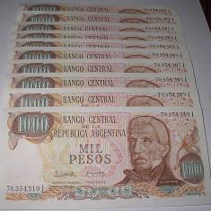 ARGENTINA 1976-1983 - 100 PESOS - LOT 10 BUC. - UNC