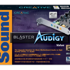 Audigy Sound Blaster 2D - 24 Biti 7.1 3D Surround - Placa de sunet PC Creative, PCI