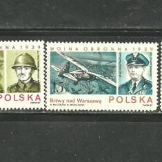 POLONIA 1987 - SCENE DE RAZBOI, serie nestampilata D205 - Timbre straine