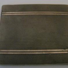 TABACHERA ROMANEASCA DE ARGINT(118, 7 GRAME) DIN ANII 30 - Tabachera veche