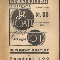 Realitatea ilustrata ( De toate pentru toti - supliment ) - 23 septemvrie 1934