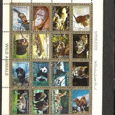 AJMAN-- MINI BLOC ANIMALE 1973 - Timbre straine, Stampilat
