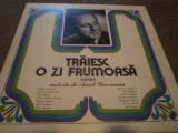 Melodii de Aurel Giroveanu traiesc o zi frumoas disc vinyl muzica pop usoara lp, VINIL, electrecord