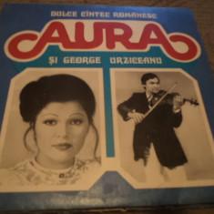 AURA GEORGE URZICEANU dulce cantec romanesc Muzica Lautareasca electrecord disc vinyl lp, VINIL