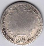 Austria Ungaria 10 Kreuzer 1815 B argint 3,59 gr,COTATIE RIDICATA !