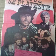 Totul se plateste casa de filme 1986 afis romania film margelatu florin piersic