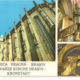 CPI (B2004) BISERICA NEAGRA, BRASOV, MOZAIC 3 IMAGINI, TIPOGRAFIA INSTITUTULUI BIBLIC, NECIRCULATA - Carte Postala Transilvania dupa 1918, Fotografie