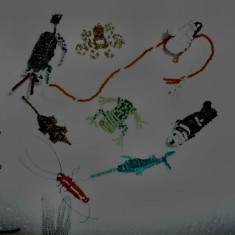animale din margele de nisip handmade