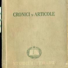 CRONICI SI ARTICOLE - Studii Literare - O.V.S.CROHMALNICEANU - Studiu literar