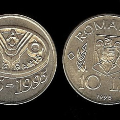 ROMANIA 10 LEI 1995 FAO UNC