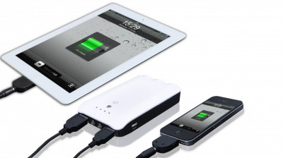 Incarcator portabil si acumulator extern 7500 mAh, cu doua iesiri USB foto