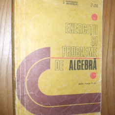 CULEGERE DE PROBLEME PENTRU LICEU *ALGEBRA * clasele IX - XII -- C. Nastasescu, C. Nita, D. Joita -- [ 1981, 22 1 p ] - Culegere Matematica