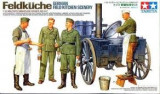 + Macheta 1/35 Tamiya 35247 - German Field Kitchen Scenery +