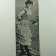 CURIOZITATE CARTOFILA - CARTE POSTALA ILUSTRATA CLASICA ( LILIPUT ) - CIRCULATA ANUL 1903 LA MAROS UJVAR ( OCNA MURES ) - DIMENS. 4, 5 X 14 CM