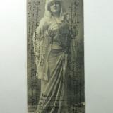 CURIOZITATE CARTOFILA - CARTE POSTALA ILUSTRATA CLASICA ( LILIPUT ) - CIRCULATA 1904 MAROSUJVAR ( OCNA MURES ) - DIMENSIUNI 6, 5 X 16 CM