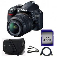 Kit aparat foto DSLR Nikon D3100, 2 obiective, geanta, Kit (cu obiectiv), 14 Mpx, Full HD