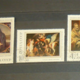 Pictura religioasa 1970 - 3 val - Rusia - stampilate - 2+1 gratis toate licitatiile - RBK1830 - Timbre straine, Asia, Arta