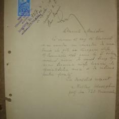 Cerere de concediu - 1928