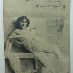 CURIOZITATE CARTOFILA - CARTE POSTALA ILUSTRATA CLASICA ( LILIPUT ) - CIRCULATA ANUL 1902 LA MAROS UJVAR ( OCNA MURES ) - DIMENS. 9 X 6, 5 CM