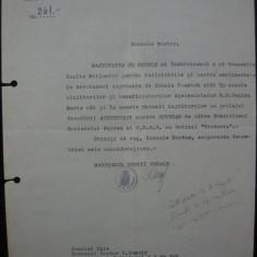 Casa Regala - Scrisoare de multumire ( semnata de Maresalul Curtii regale ) - 1945