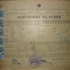 Certificat de clasa - 1934