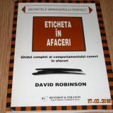 ETICHETA IN AFACERI-DAVID ROBINSON