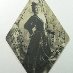 CURIOZITATE CARTOFILA - CARTE POSTALA ILUSTRATA CLASICA ( LILIPUT ) - CIRCULATA ANUL 1903 LA MAROS UJVAR ( OCNA MURES ) - DIMENS 12 X 8 CM