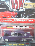 Macheta americana '54 DODGE CORONET /scara 1/64/ M2 MACHINES, Inc. ++2100 de LICITATII !!, 1:64