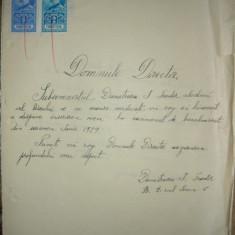 Lot 4 cereri de inscriere la examenul de bacalaureat - 1929