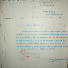 Ministerul Instructiunii - Lot 4 documente - 1928- 1941 - Hartie cu Antet