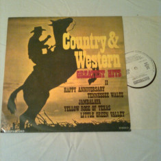 COUNTRY & WESTWRN GREATEST HITS II - disc vinil, electrecord