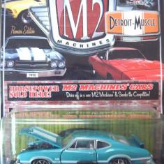 Macheta americana '70 OLDSMOBILE CUTLASS 442 /scara 1/64/M2 MACHINES Inc., ++2100 de LICITATII !! - Macheta auto