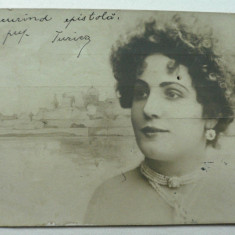 CURIOZITATE CARTOFILA - CARTE POSTALA ILUSTRATA CLASICA ( LILIPUT ) - CIRCULATA ANUL 1904 LA MAROS UJVAR ( OCNA MURES ) - DIMENS 9 X 7 CM