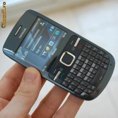 Vand nokia c3-00 aproape nou - Telefon mobil Nokia C3, Albastru, Neblocat