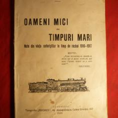 M.T.Maer -Note din viata Ceferistilor in razboi 1916-1917 - Carte de aventura