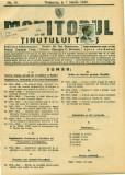 ROMANIA 1940. MONITORUL TINUTULUI TIMIS nr.10-francat 25 bani CAROL
