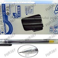 Pix cu gel 0.5mm, negru-3440 - Set rechizite