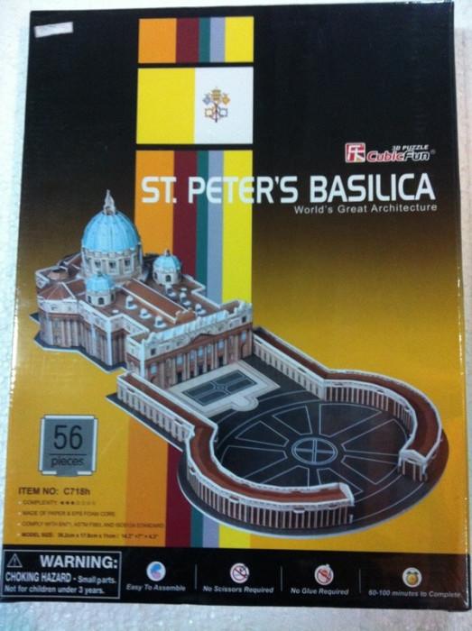 Puzlle 3D / 56 piese / Basilica Sf. Petru de la Vatican