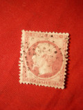 Timbru 80 C roz 1862 Franta , dant. stamp.