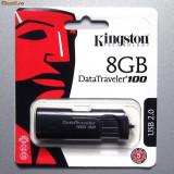 Stik USB Kingstone DT100G2/8GB capacitate: 8 GB interfata: 2.0 culoare: NEGRU - Stick USB Kingston, USB 2.0