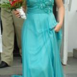 Vand rochie de seara model unicat+cadou sandale !!!, Marime: 40, Culoare: Verde, Verde, Maxi