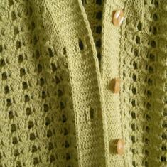 Minunat cardigan tricotat din ata de bumbac - Pulover dama