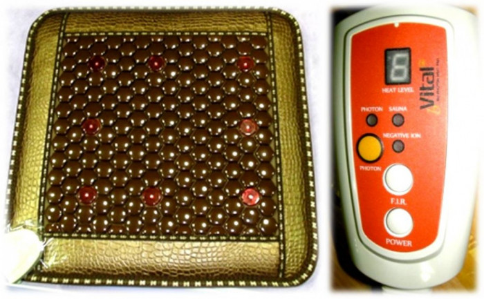 PAD PENTRU ?EZUT CU TURMALINA ofera beneficiile razelor infrarosii îndepartate, a ionilor negativi, a fotonilor si a energiei termice foto mare