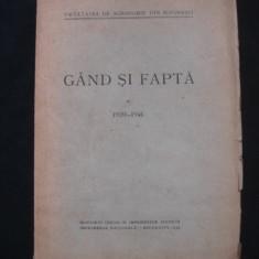 GAND SI FAPTA 1939-1940
