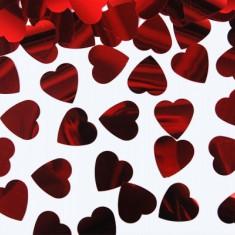 Confetti inimioare rosii - Decoratiuni nunta