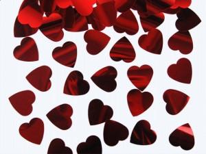 Confetti inimioare rosii