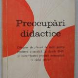 Preocupari Didactice - Culegere de Planuri de Lectii